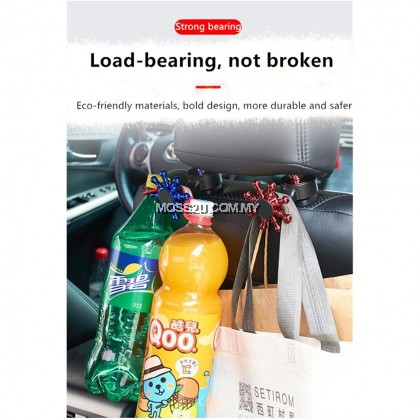 2 in 1 Multi-Function Car Headrest Hook with Phone Holder Seat Back Hanger ( XYG001 )