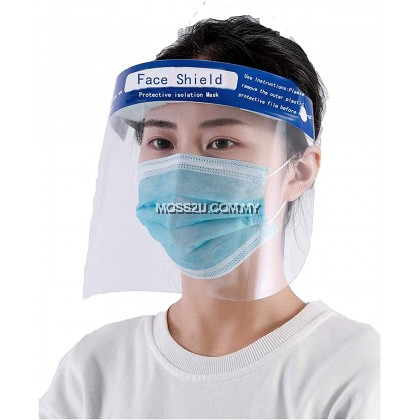 Reusable Safety Protection PVC Full Coverage Anti-Fog Dust Virus Bacteria Face Shield 防护面罩