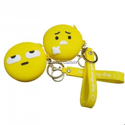 Mini Coin Bag with Key Ring - Nike / Wechat Emoji