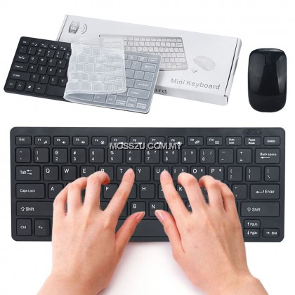 2 in 1 Combo Set - USB Wireless 2.4G  Mini Keyboard and Mouse ( K03 )