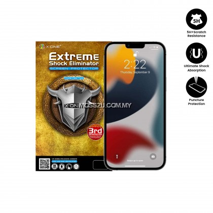 Apple iPhone 13 / 13 Mini / 13 Pro / 13 Pro Max X-One Extreme Shock Eliminator ( 3rd Generation ) Clear Screen Protector