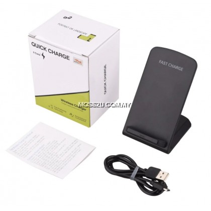 2 Coil Mobile Phone Wireless Fast Charger Desktop Charging Stand ( WC003 )